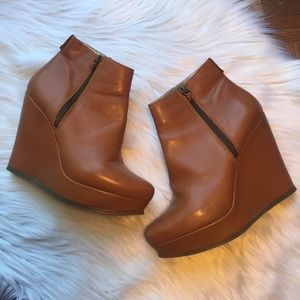 Ted Baker London Brown Ezika Wedge Boots
